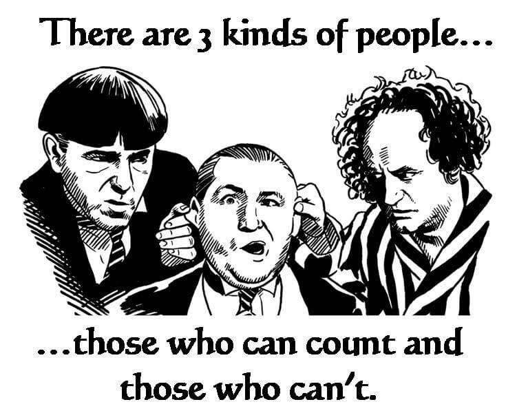 three people who can't count
